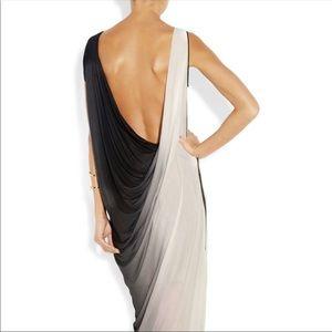 Helmut Lang Shadow Ombré Jersey Maxi Dress